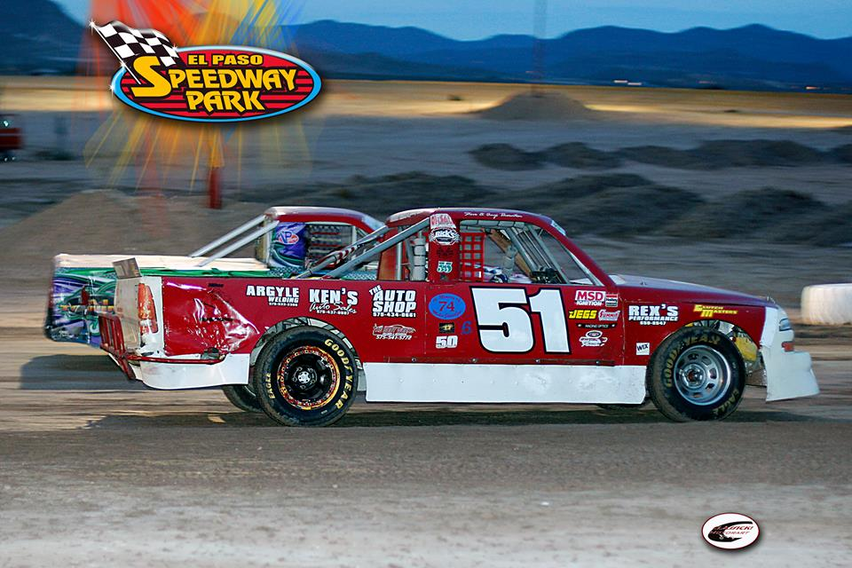 El Paso Speedway Park, super truck, 51, mountain, sky