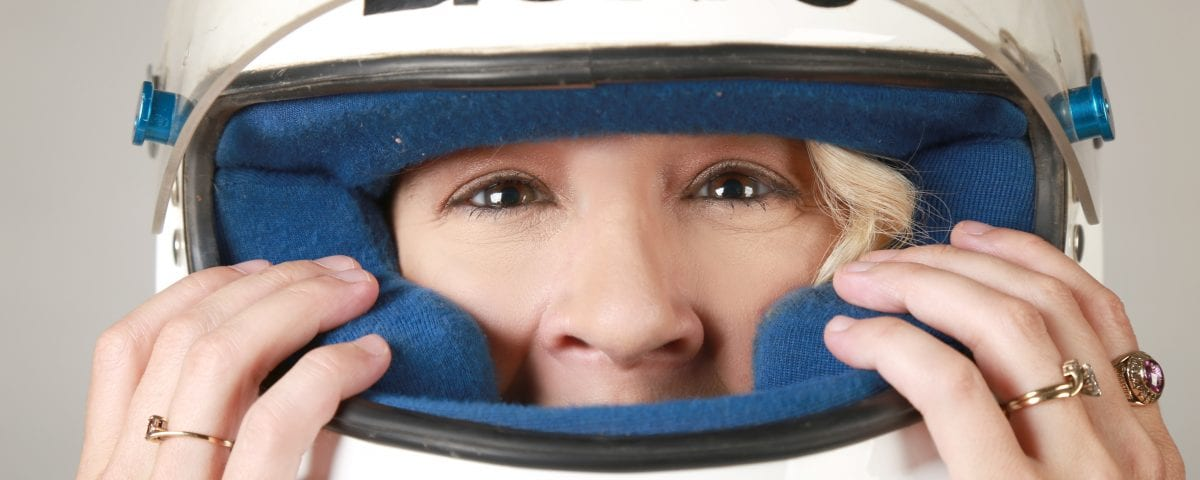 Helmet, close up, headshot, Anji Thornton, Las Cruces, New Mexico, Super Truck