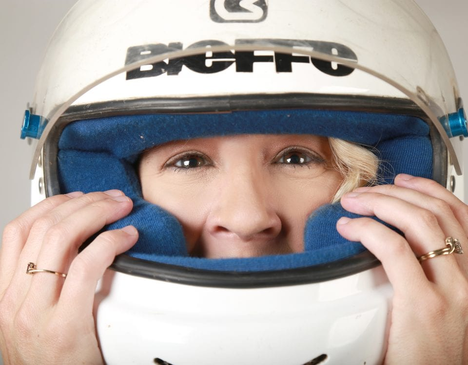 Helmet, close up, headshot, Anji Thornton, Las Cruces, New Mexico, Super Truck