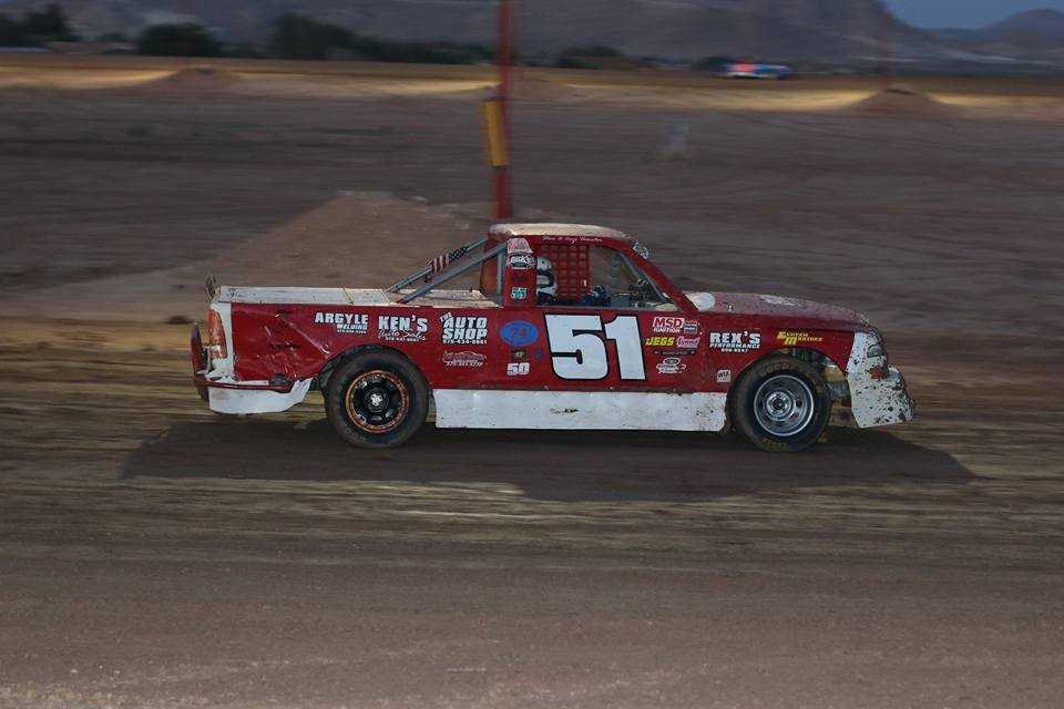 Anji Thornton, super truck, circle track racing, las cruces, speedway